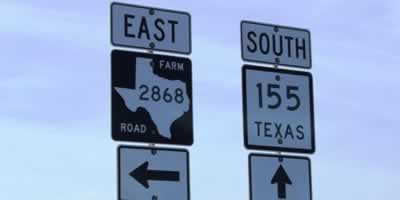 Take a trip on one of the many scenic roads of East Texas