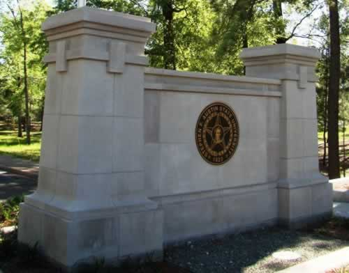 Entrance to Stephen F. Austin State University, Nacogdoches, Texas