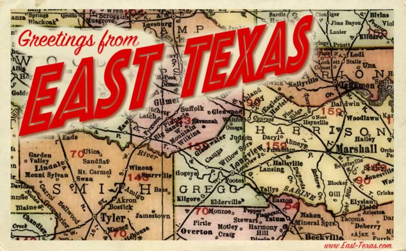 East Texas Piney Woods East Texas map East Texas cities and