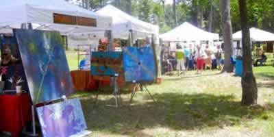 Art fest in Ben Wheeler, Texas