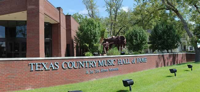 Exterior of the Texas Country Music Hall of Fame & Tex Ritter Museum