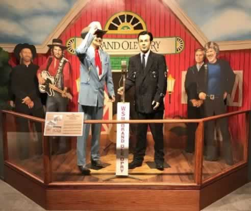 Exhibit inside the Texas Country Music Hall of Fame