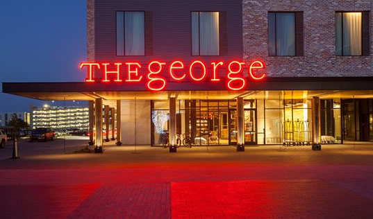 Exterior view of The George Hotel in College Station, Texas