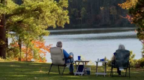 Quiet moment in the fall at Daingerfield State Park