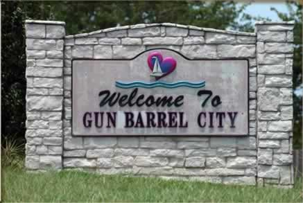 Gun Barrel City and Cedar Creek Lake, location, things to do, maps, links,  resources, and photographs