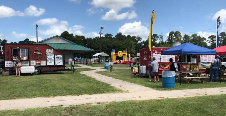 Trade Days in Joe Pedigo Park in Livingston, Texas