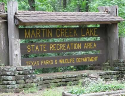 Martin Creek Lake State Recreation Area in East Texas