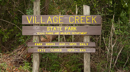 Village Creek State Park in Texas
