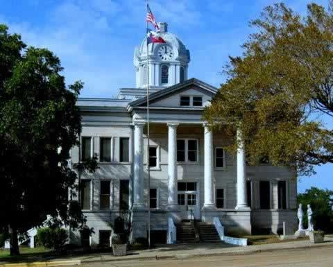 The historic Franklin County Court House in Mount Vernon, Texas