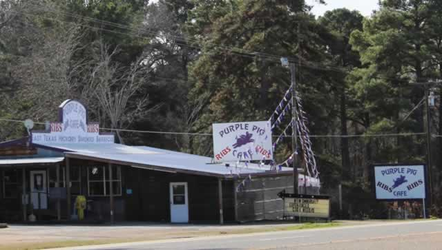 The Purple Pig Cafe, Highway 155, south of Noonday, Texas