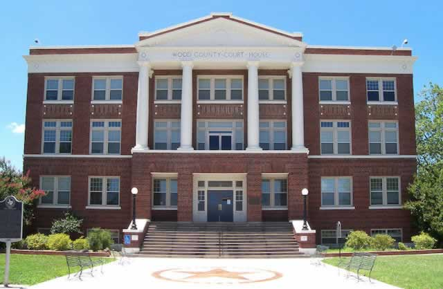 The Wood County Courthouse in Quitman, Texas