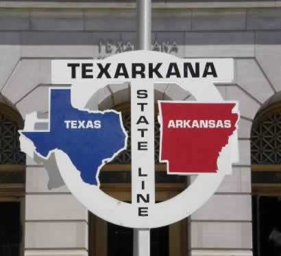Texarkana ... on the Texas-Arkansas state line