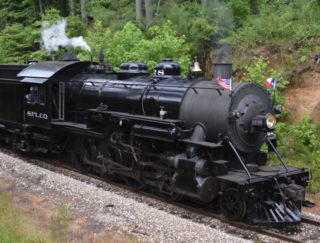 Texas State Railroad's steam engine No. 28