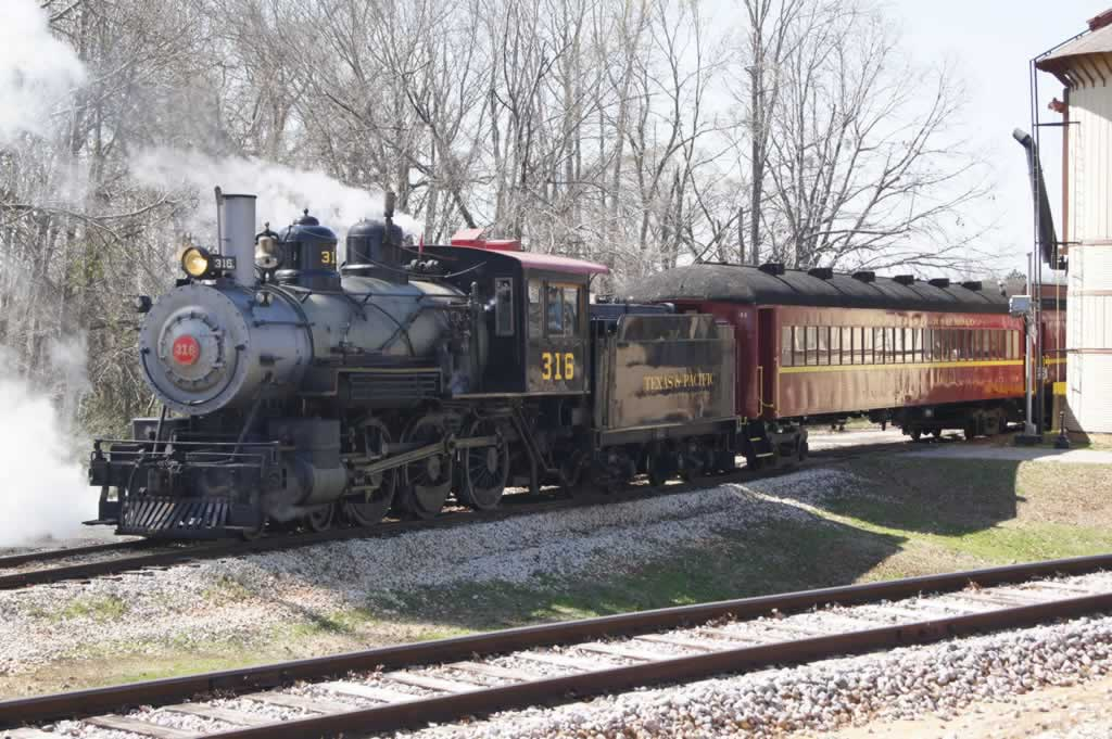Steam engine No. 316 of the Texas State Railroad