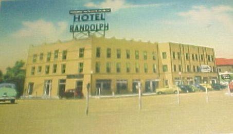 Historic Postcard Of The Hotel Randolph Henderson Texas