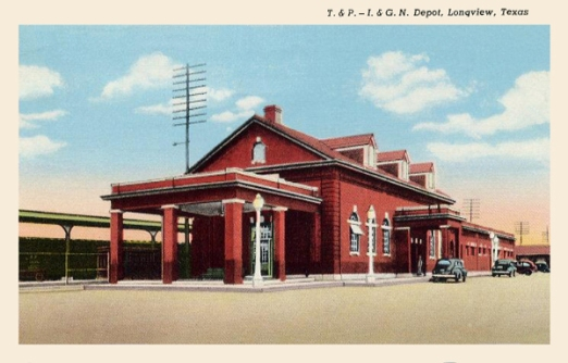 Texas & Pacific (T&P) - I. & G.N. Railroad Depot, Longview, Texas