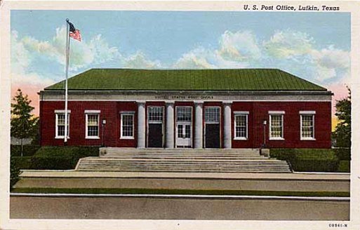 Another Historic Postcard Of The U S Post Office In Lufkin