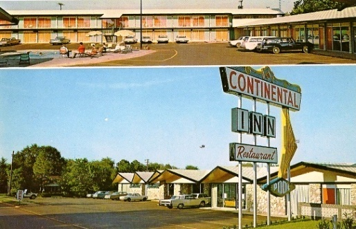 Historic Postcard Of The Continental Inn Nacogdoches Texas
