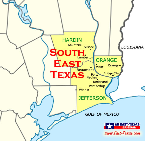 Map Of East Texas Towns East Texas maps, maps of East Texas counties, list of Texas counties