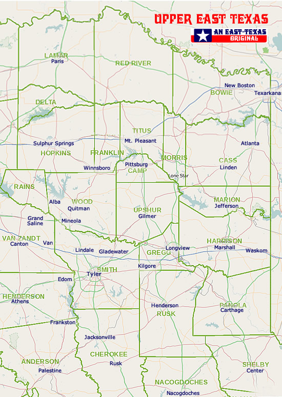 East Texas Maps Maps Of East Texas Counties List Of Texas Counties - Texas map outline with cities