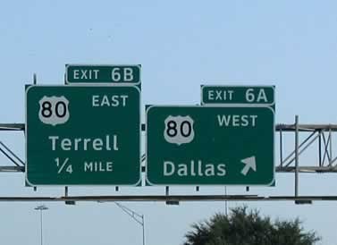 Historic U.S. Highway 80 in East Texas, map, cities along the way ...